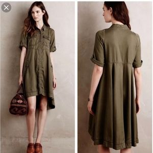 Anthropologie Holding Horses Military Army Dress 6